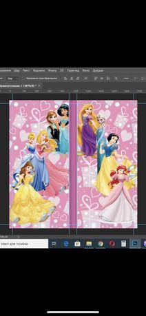 банер для фотозоны принцессы диснея