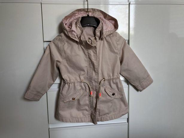 Trencz h&m 92 beż płaszcz kurtka