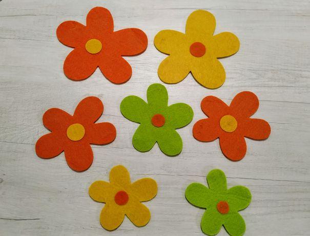 Цветы из фетра (цена за набор)