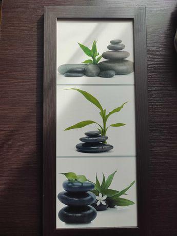 Obraz 24x54 cm kamienie