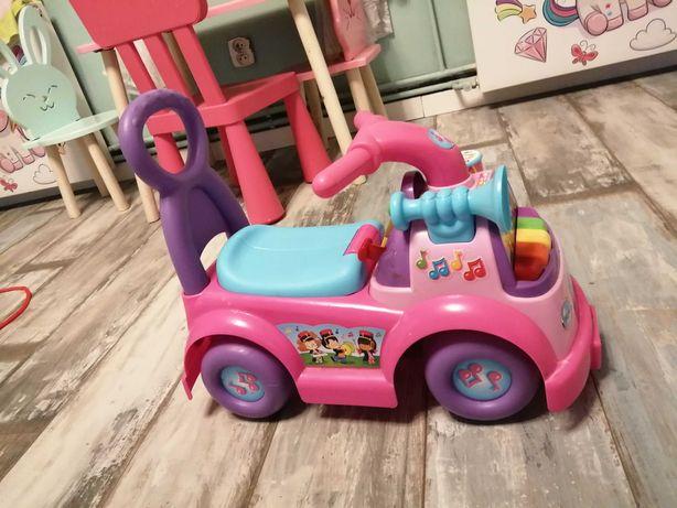 Jeździk Fisher price pchacz samochodzik różowy