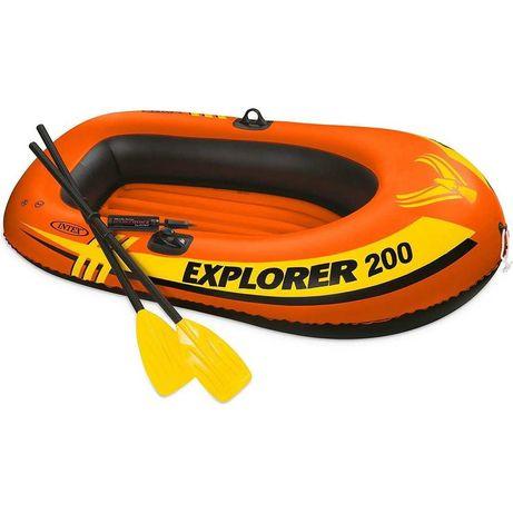 Надувная лодка Eхplorer 200 с алюминиевыми веслами и насосом