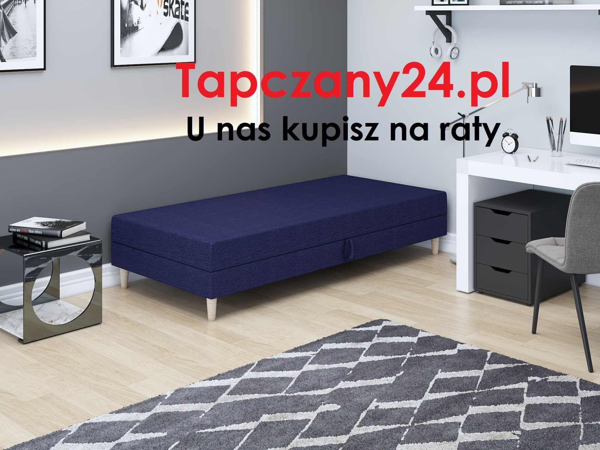 Łóżko jednoosobowe młodzieżowe skandynawskie +pojemnik/materac