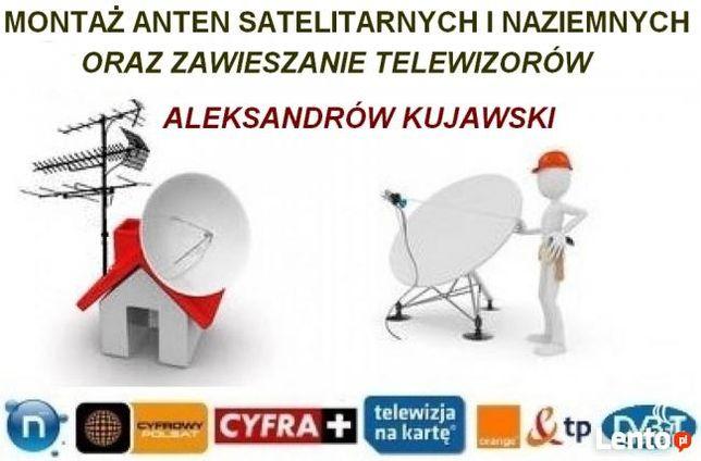 Montaż anten sat, dvb-t,, wieszanie telewizorów Aleksandrów Kuj tanio