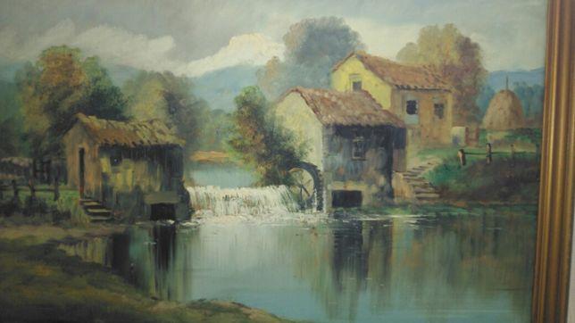 Pintura a óleo - Paisagem campestre