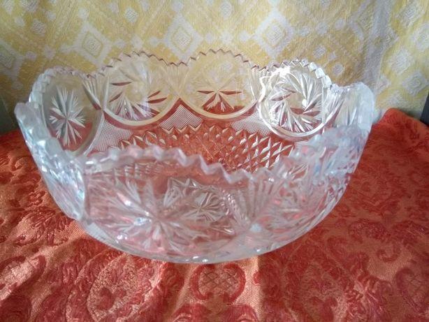 Хрустальна ваза-салатница