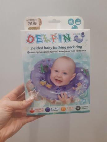 Детский двухсторонний круг для купания Delfin