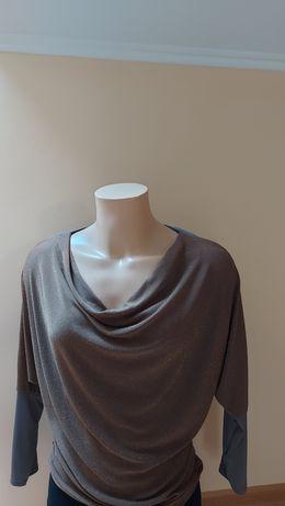 Wizytowa elegancka bluzka nietoperz xl