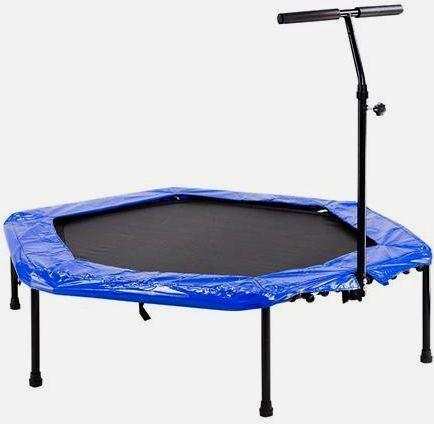 Trampolina fitness fitnes z uchywtem rączką 140cm domu ogród ogrodowa