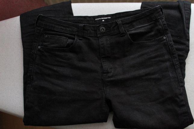 Jeansy spodnie czarne reserved rozmiar 38