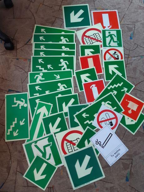 tablice naklejki ewakuacja droga pożarowa wyjście ewakuacyjne znaki