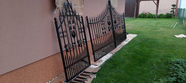 Brama wjazdowa kuta wraz z furtką