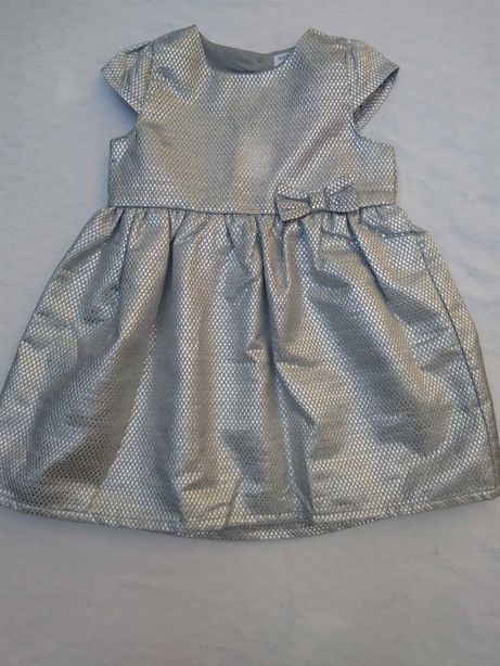 Sukienka srebrna 86 wesele święta