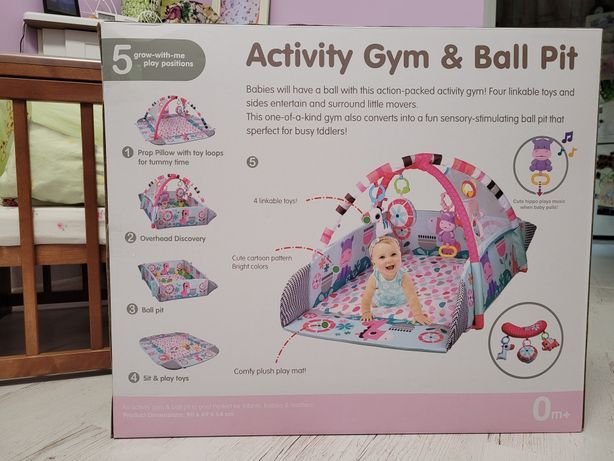 5in1 Activity Gym & Ball Pit-pink