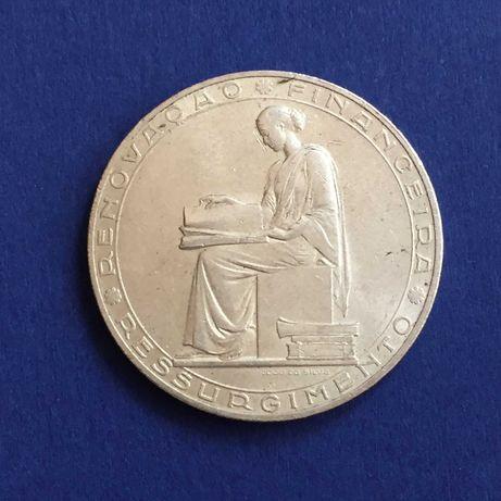 moeda 20 escudos 1953-Renovação Financeira-prata