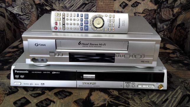 Panasonic DMR-EH50+magnetowid Funaj 31D-850 przegraj VHS na DVD