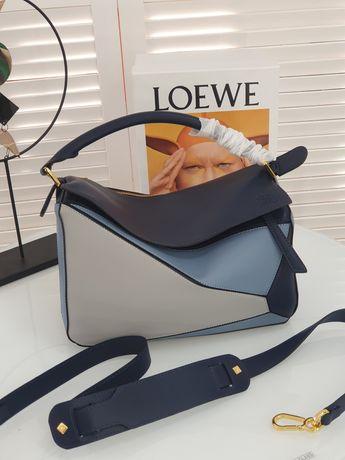 Стильная кожаная женская сумка Loewe Pazzle. Кожа, люкс, разные цвета