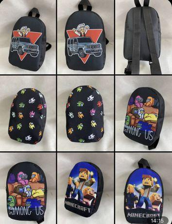 Рюкзачек для детей маленький Влад А4 Бумага, Амонк ас, Майнкрафт,