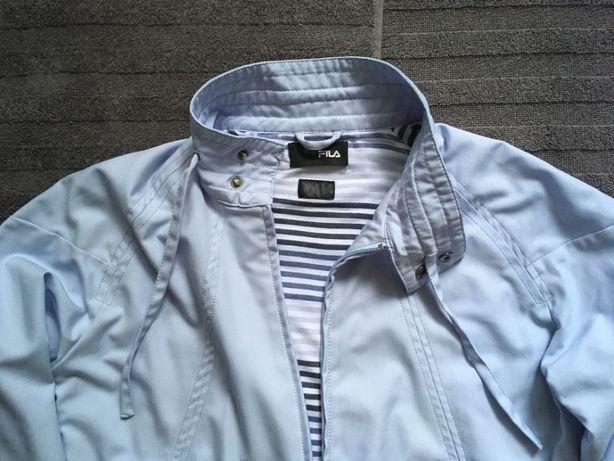 Куртка ветровка FILA весна лето женская спорт голубая размер наш 44