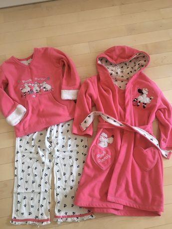 Szlafrok i piżama dla 6-latki St.Bernard