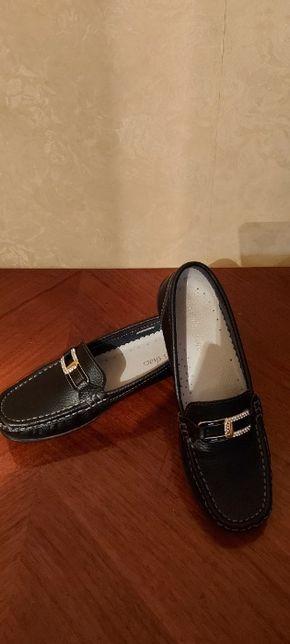 Туфли 37 слипоны слипы  лоферы кожа