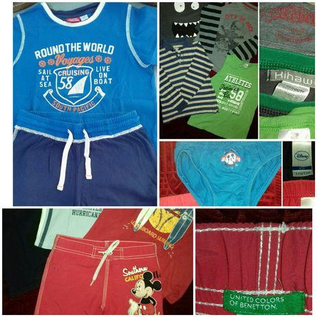 Conjunto Chicco, t-shirts, polo, cuecas e calção banho Disney 4/6 anos