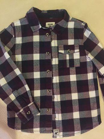 Тёплая рубашка F&F + футболка