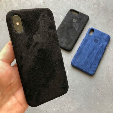 Чехол Алькантара iPhone 6S 7 8 Plus XR X XS Max alcantara leather case