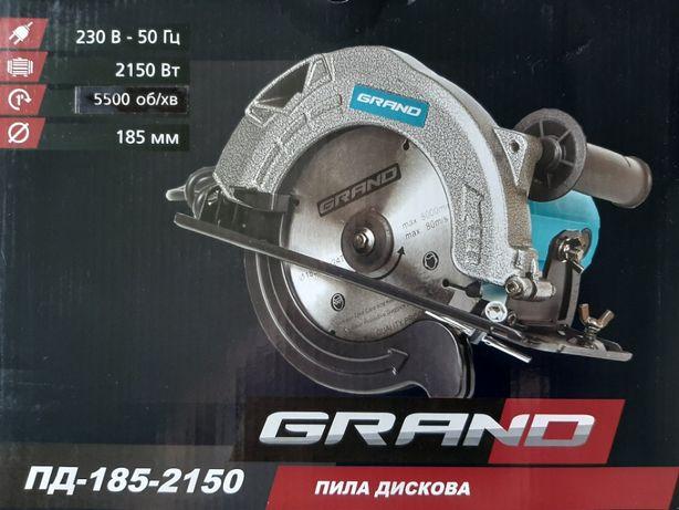 Пила дисковая, циркулярка, GRAND ПД-185-2150
