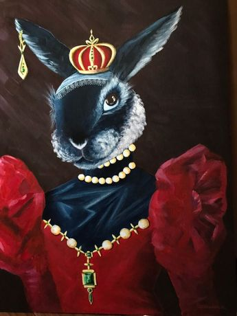 Картина кролик размер 50х60