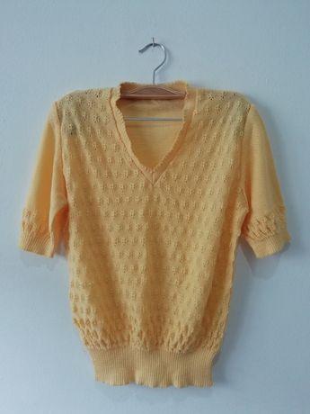 blusa malha amarela