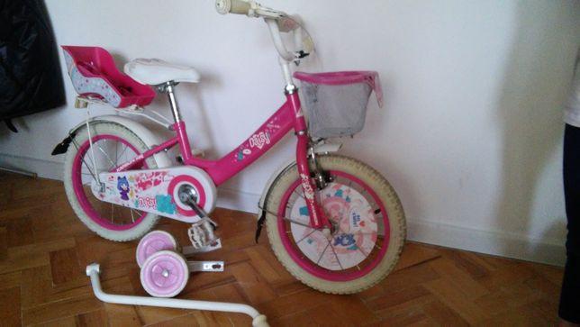rowerek różowy 16 cali