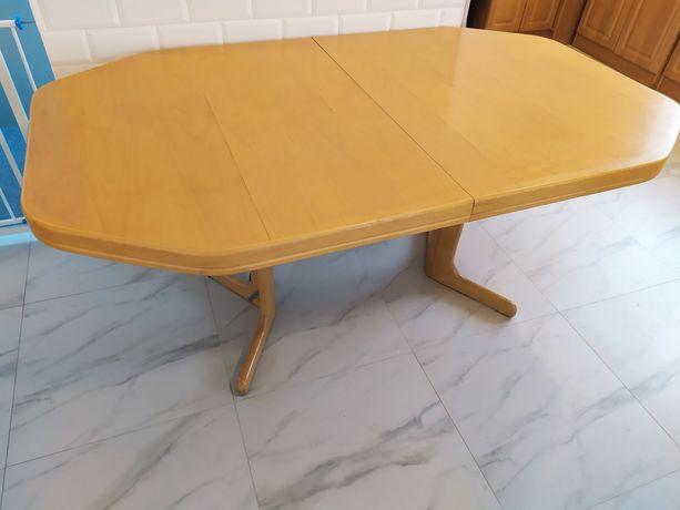 Stół drewniany, rozkładany, 170x102 cm, transport