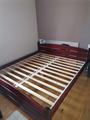 Łóżko drewniane Kasia 180x200 ze stelażem, kolor mahoń