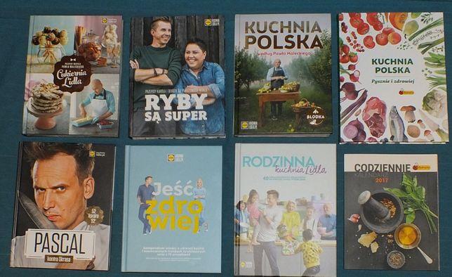 Nowy zestaw książek kucharskich 8 szt + Gratis Lidl Biedronka