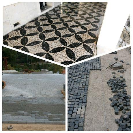 Calceteiro/ calçada, pavê, lancil, remodelações exteriores e decoração