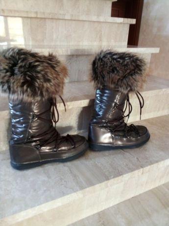 Buty Bergstein roz 40 połyskujące brąz