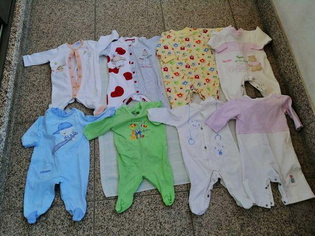 Babygrows para bebé dos 0 aos 2 meses