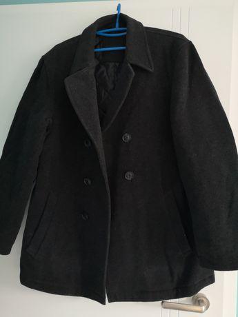 Płaszcz męski czarny grafitowy rozmiar 48