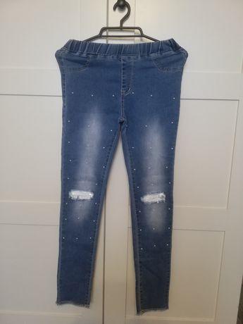 Spodnie jeansy 158