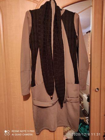 Платье женское с шарфом
