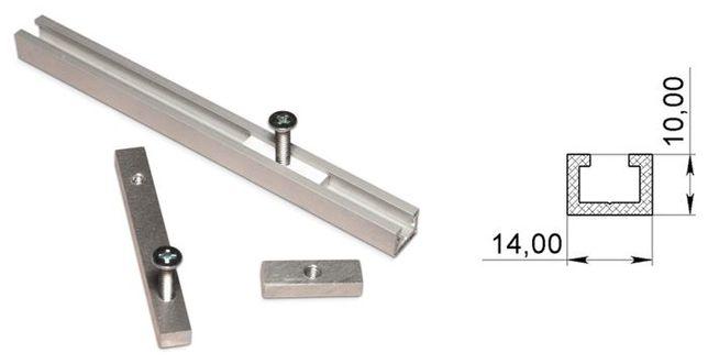 Профиль алюминиевый направляющий 14x10 и шайбы к нему