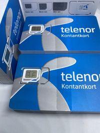 Telenor SIM Card Prepaid SE Starter Karta Szwecja