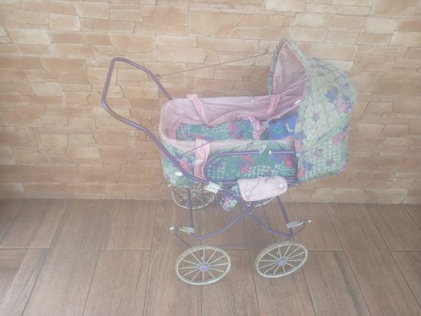 Zabytkowy stary wózek 2w1 dla lalek