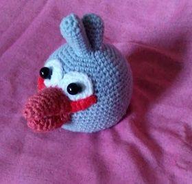 Вязаная игрушка Птица Джей из angry birds