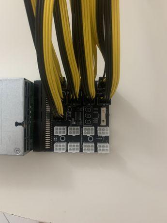 PSU Hp  1200 w original/ breakout 17 e cabos 60 cm (Mining)portes inc)