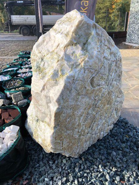 skała kremowa, biało-żółta, skała ogrodowa, skała dekoracyjna