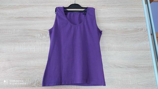 Fioletowa bluzka damska na ramiączkach