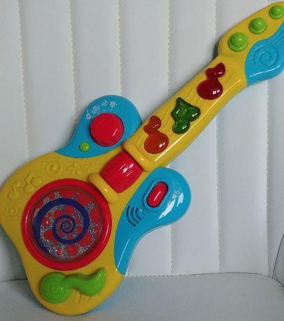 Smily PLAY Interaktywna gitara gra świeci idealna