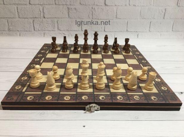 Шахматы, шашки, нарды деревянные 29x29см